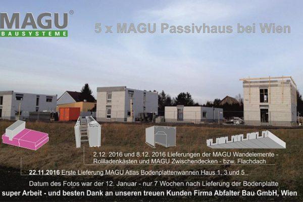 5 neue MAGU Passivhäuser bei Wien